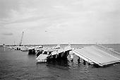 Biloxi,  Mississippi.USA.July 30,  2006..A causeway one years after hurricane Katrina struck..