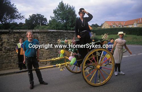 The Mock Mayor. Kilburn Feast, Kilburn. Yorkshire  England. <br /> <br /> Mollie or Molly,woman played by a man past her prime.