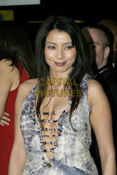 RACHEL GRANT.National Television Awards, Royal Albert Hall..October 26th, 2004.half length, plunging neckline, cleavage, beads.www.capitalpictures.com.sales@capitalpictures.com.© Capital Pictures.