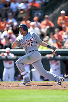 Detroit Tigers infielder Hernan Perez (26) during a Spring Training game against the Baltimore Orioles on March 4, 2015 at Ed Smith Stadium in Sarasota, Florida.  Detroit defeated Baltimore 5-4.  (Mike Janes/Four Seam Images)