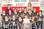 Currow NS team that won the Senior NS Girls A Final at the 2008 St Mary's Christmas blitz in Castleisland Community Centre on Tuesday front row l-r: Gillian Hannafin, Rachel O'Connor, Amy Galwey Captain, Molly Callaghan, Michaela Breen. Back row: Paula Fleming, Joanne O'Connor assistant coach, Rowan Collier, Ciara Brosnan, Hannah O'Connor, Rachel O'Connor, Breda Jones coach, Emer Horgan, Aisling Moriarty, Kathleen O'Sullivan