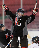 Kelly Wallace (NU - 5) - The Northeastern University Huskies practice on the ice at Fenway Park on Thursday, January 7, 2010, in Boston, Massachusetts.