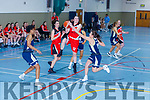 Denise Dunlea Team Tom McCarthy's  drives at the basket despite Lexi Posset Ulster University Elks challenge during their Div 1 National League game in Castleisland on Saturday
