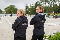 SUPER-GROOMS: Lucy Miles (WESKO) and Charlie Gardiner (LEONIDAS) EVENTING: The Alltech FEI World Equestrian Games 2014 In Normandy - France (Wednesday 27 August) CREDIT: Libby Law COPYRIGHT: LIBBY LAW PHOTOGRAPHY - NZL