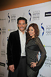"""Guiding Light Tom Pelphrey poses with One Life To Live Melissa Archer who stars in """"West End"""" a film by Joe Basile about Family, Betrayal, Revenge - Greeting from the Jersey Shore - with its premiere at the Soho International Film Festival on April 11, 2013 at the Sunshine Cinema, New York City, New York. (Photo by Sue Coflin/Max Photos)"""