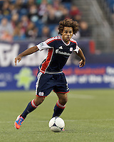 New England Revolution defender Kevin Alston (30) traps the ball. In a Major League Soccer (MLS) match, the New England Revolution tied the Columbus Crew, 0-0, at Gillette Stadium on June 16, 2012.