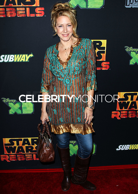 "CENTURY CITY, CA, USA - SEPTEMBER 27: Joely Fisher arrives at the Los Angeles Screening Of Disney XD's ""Star Wars Rebels: Spark Of Rebellion"" held at the AMC Century City 15 Theatre on September 27, 2014 in Century City, California, United States. (Photo by Celebrity Monitor)"