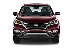 Car photography straight front view of a 2015 Honda Cr-V Touring 5 Door Suv 2WD Front View