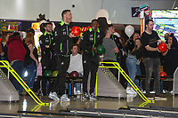 Pictured: Erwin Mulder of Swansea City and Marc Guehi of Swansea City during the Swansea player and fans bowling evening at Tenpin Swansea, Swansea, Wales, UK. Wednesday 22 January 2020