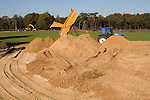 HILVERSUM - Aanleg green van hole 10. Veranderingen aan de baan van de Hilversumse GC