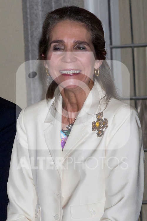 14.06.2012. Princess Elena of Spain She attends the Awards of the XXI edition of the Painting Competition Children and Youth of Patrimonio Nacional at the Royal Palace of El Pardo in Madrid. In the image Princess Elena de Borbon (Alterphotos/Marta Gonzalez)