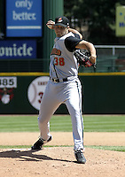 April 29, 2004:  Pitcher Fernando Cabrera of the Buffalo Bisons, International League (AAA) affiliate of the Cleveland Indians, during a game at Frontier Field in Rochester, NY.  Photo by:  Mike Janes/Four Seam Images