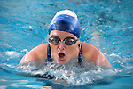 Elizabeth (Liz) Hogan, 50, shattered the Senior Olypics' 200-meter Individual Medley Senior Games' record (2:42:40) with a time of 2:34:42. She also won the 100-meter Individual Medley in 1:16:57.
