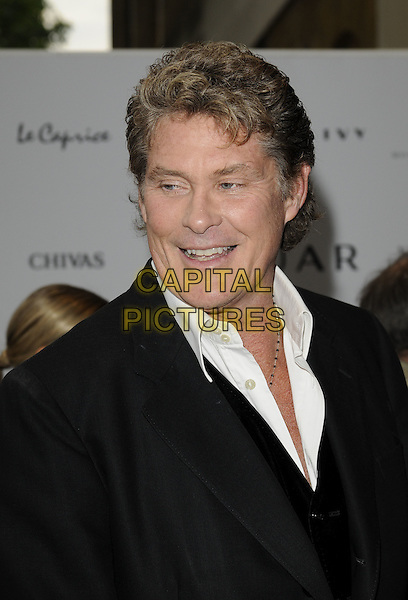 DAVID HASSELHOFF .The New Jaguar XJ launch party, Saatchi Gallery, Duke of York's HQ, London, England. .July 9th, 2009 .headshot portrait black white .CAP/CAN.©Can Nguyen/Capital Pictures.