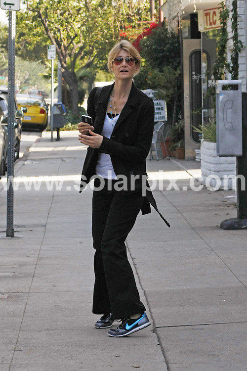 **ALL ROUND EXCLUSIVE PICTURES FROM SOLARPIX.COM**.**WORLDWIDE SYNDICATION RIGHTS**.**NO PUBLICATION IN AUSTRALIA, NEW ZEALAND, DENMARK, GERMANY OR USA**.actress Laura Dern pauses briefly whilst walking through Santa Monica to explain that she has no time to stop and pose for a photo. Santa Monica, California, USA. 20th November 2008..JOB REF: 7967 LAP (JDVI)       DATE: 20_11_2008.**MUST CREDIT SOLARPIX.COM OR DOUBLE FEE WILL BE CHARGED* *UNDER NO CIRCUMSTANCES IS THIS IMAGE TO BE REPRODUCED FOR ANY ONLINE EDITION WITHOUT PRIOR PERMISSION*