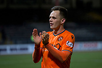 8th November 2019; Dens Park, Dundee, Scotland; Scottish Championship Football, Dundee Football Club versus Dundee United; Lawrence Shankland of Dundee United applauds the fans at the end of the match - Editorial Use