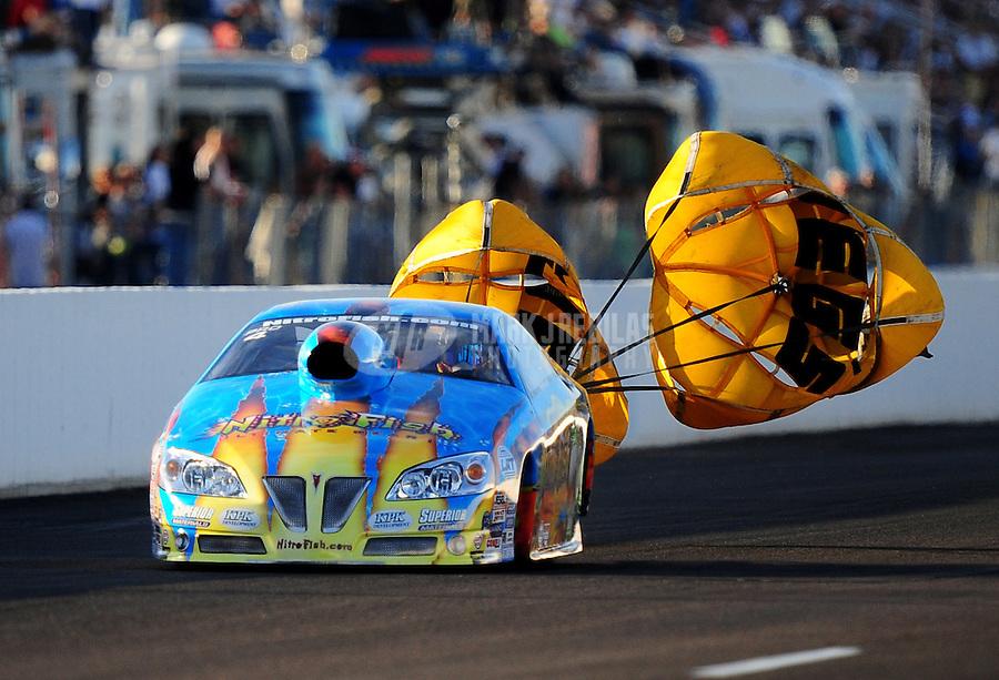 Feb. 19, 2010; Chandler, AZ, USA; NHRA pro stock driver Greg Stanfield during qualifying for the Arizona Nationals at Firebird International Raceway. Mandatory Credit: Mark J. Rebilas-