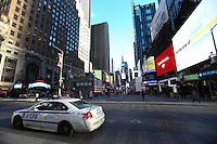 NEW YORK, NY, 02.03.2017 - SEGURANÇA-NEW YORK - Policiamento é visto na Times Square na cidade de New York nesta quinta-feira, 02. (Foto: William Volcov/Brazil Photo Press)
