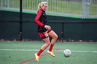 Allston, MA - Sunday, May 1, 2016:  Portland Thorns FC midfielder Allie Long (10) during warmups before a match against the Boston Breakers at Harvard University.