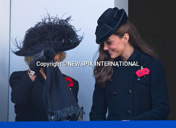 """CATHERINE, DUCHESS OF CAMBRIDGE AND CAMILLA,DUCHESS OF CORNWALL.Kate's attended her 1st Remembrance Service with members of the Royal Family at the Cenotaph, London_13th November 2011.©FRANCIS DIAS - NEWSPIX INTERNATIONAL..Mandatory credit photo:NEWSPIX INTERNATIONAL(Failure to credit will incur a surcharge of 100% of reproduction fees)..**ALL FEES PAYABLE TO: """"NEWSPIX  INTERNATIONAL""""**..Newspix International, 31 Chinnery Hill, Bishop's Stortford, ENGLAND CM23 3PS.Tel:+441279 324672.Fax: +441279656877.Mobile:  07775681153.e-mail: info@newspixinternational.co.uk"""