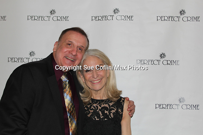 Actor Charles Geyer attended 30th anniversary and poses with Catherine Russell. He played all the parts in past. Perfect Crime - 30th Anniversary off-Broadway with Catherine Russell who originated the role of Margaret and has played every performance except 4 since April of 1987 and is in the Guiness Book of World Records. The 30th anniversary was on April 18, 2017 at Bernstein Theatre, New York City, New York. (Photo by Sue Coflin/Max Photos)