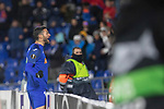 GETAFE, SPAIN - DECEMBER 12: Getafe CF's  Jorge Molina celebrates goal during the UEFA Europa League group C match between Getafe CF and FK Krasnodar at Coliseum Alfonso Perez on December 12, 2019 in Getafe, Spain. <br /> (ALTERPHOTOS/David Jar)