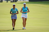 Maria Fassi (a)(MEX) and Jennifer Kupcho (USA) chat as they head down 1 during round 1 of the 2019 US Women's Open, Charleston Country Club, Charleston, South Carolina,  USA. 5/30/2019.<br /> Picture: Golffile | Ken Murray<br /> <br /> All photo usage must carry mandatory copyright credit (© Golffile | Ken Murray)