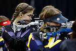 COLUMBUS, OH - MARCH 11:  Rachel Garner, of Texas Christian University, competes during the Division I Rifle Championships held at The French Field House on the Ohio State University campus on March 11, 2017 in Columbus, Ohio. Garner finished third in the individual championship with a score of 186.1. (Photo by Jay LaPrete/NCAA Photos via Getty Images)