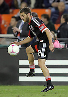 WASHINGTON, DC - OCTOBER 20, 2012:  Chris Kolb (22) of D.C United controls the ball against the Columbus Crew during an MLS match at RFK Stadium in Washington D.C. on October 20. D.C United won 3-2.