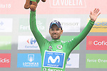 Alejandro Valvede (ESP) Movistar Team retains the Green Jersey at the end of Stage 20 of the La Vuelta 2018, running 97.3km from Andorra Escaldes-Engordany to Coll de la Gallina, Spain. 15th September 2018.                   <br /> Picture: Colin Flockton | Cyclefile<br /> <br /> <br /> All photos usage must carry mandatory copyright credit (© Cyclefile | Colin Flockton)