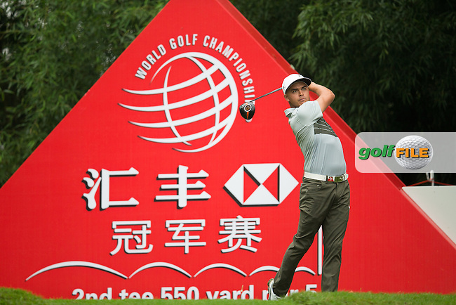 Rickie Fowler (USA) on the 2nd tee during the 1st round of the  WGC-HSBC Champions, Sheshan International GC, Shanghai, China PR.  27/10/2016<br /> Picture: Golffile | Fran Caffrey<br /> <br /> <br /> All photo usage must carry mandatory copyright credit (&copy; Golffile | Fran Caffrey)