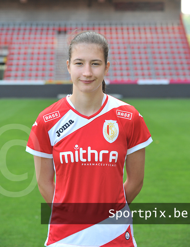 Persconferentie Standard Femina de Liege : Sanne Schoenmakers<br /> foto Joke Vuylsteke / nikonpro.be