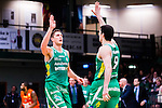 S&ouml;dert&auml;lje 2015-01-17 Basket Basketligan S&ouml;dert&auml;lje Kings - Bor&aring;s Basket :  <br /> S&ouml;dert&auml;lje Kings Carl Engstr&ouml;m har gjort po&auml;ng och firar med Toni Bizaca under matchen mellan S&ouml;dert&auml;lje Kings och Bor&aring;s Basket <br /> (Foto: Kenta J&ouml;nsson) Nyckelord:  Basket Basketligan S&ouml;dert&auml;lje Kings SBBK T&auml;ljehallen Bor&aring;s jubel gl&auml;dje lycka glad happy