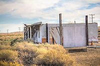 Abandoned Buildings on Route 66 Lenwood California