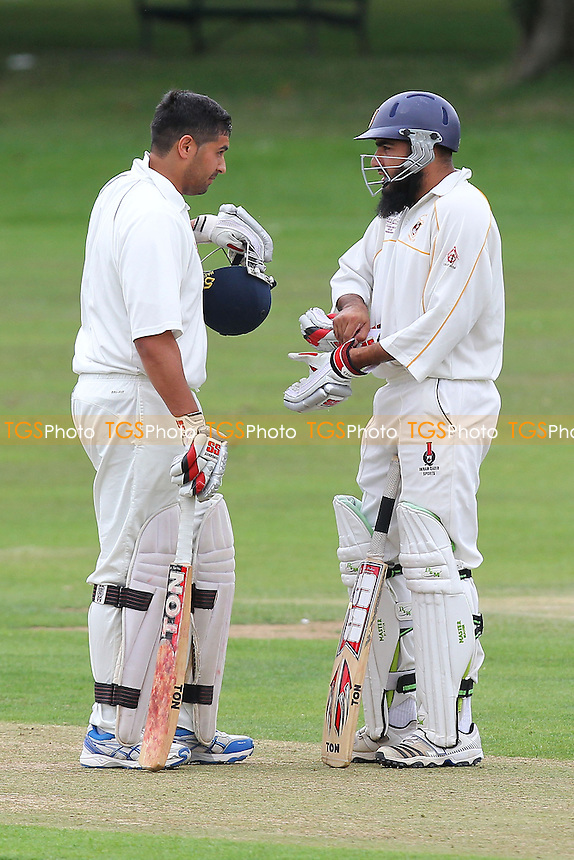 I Shah (R) and M Ismail of Hainault - Harold Wood CC vs Hainault & Clayhall CC - Essex Cricket League at Harold Wood Park - 10/08/13 - MANDATORY CREDIT: Gavin Ellis/TGSPHOTO - Self billing applies where appropriate - 0845 094 6026 - contact@tgsphoto.co.uk - NO UNPAID USE