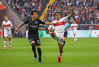 Makoto Hasebe (Eintracht Frankfurt) gegen Nicolas Gonzalez (VfB Stuttgart) - 31.03.2019: Eintracht Frankfurt vs. VfB Stuttgart, Commerzbank Arena, DISCLAIMER: DFL regulations prohibit any use of photographs as image sequences and/or quasi-video.