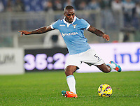 Edson Braafheid    in action during the Italian Serie A soccer match between   SS Lazio and FC Juventus   at Olimpico  stadium in Rome , November 22, 2014