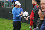 Rory McIlroy signs autographs during Practice Day 2 at the 2010 Ryder Cup at the Celtic Manor Twenty Ten Course, Newport, Wales, 29th September 2010..(Picture Eoin Clarke/www.golffile.ie)