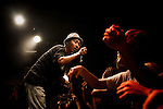 Tokyo, August 30 2012 - Dengaryu, hip hop singer and actor in the movie Saudade by Katsuya Tomita, live in Shibuya.