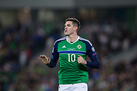 Northern Ireland's Kyle Lafferty   <br /> <br /> <br /> Photographer Craig Mercer/CameraSport<br /> <br /> FIFA World Cup Qualifying - European Region - Group C - Northern Ireland v Czech Republic - Monday 4th September 2017 - Windsor Park - Belfast<br /> <br /> World Copyright &copy; 2017 CameraSport. All rights reserved. 43 Linden Ave. Countesthorpe. Leicester. England. LE8 5PG - Tel: +44 (0) 116 277 4147 - admin@camerasport.com - www.camerasport.com