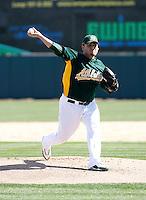 Edgar Gonzalez - Oakland Athletics - 2009 spring training.Photo by:  Bill Mitchell/Four Seam Images