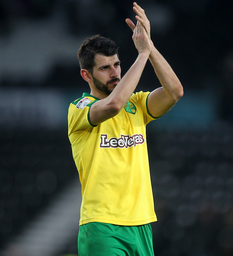 Norwich City's Nelson Oliveira<br /> <br /> Photographer Mick Walker/CameraSport<br /> <br /> The EFL Sky Bet Championship - Derby County v Norwich City - Saturday 10th February 2018 - Pride Park - Derby<br /> <br /> World Copyright &copy; 2018 CameraSport. All rights reserved. 43 Linden Ave. Countesthorpe. Leicester. England. LE8 5PG - Tel: +44 (0) 116 277 4147 - admin@camerasport.com - www.camerasport.com