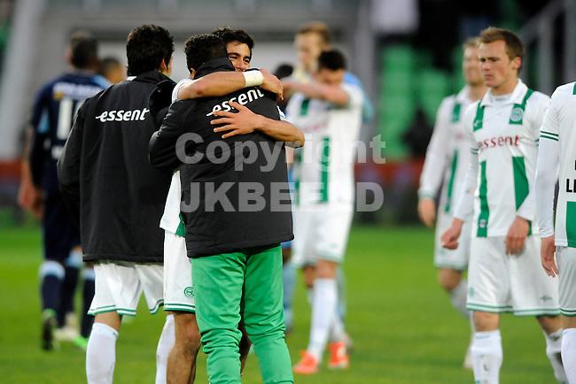 GRONINGEN - Voetbal, FC Groningen - ADO Den Haag,.Eredivisie,  Euroborg, seizoen 2012-2013, 20-04-2013,  Groningen viert de overwinning...