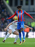 Crystal Palace's Wilfried Zaha<br /> <br /> Photographer Ashley Crowden/CameraSport<br /> <br /> The Premier League - Crystal Palace v Burnley - Saturday 13th January 2018 - Selhurst Park - London<br /> <br /> World Copyright &copy; 2018 CameraSport. All rights reserved. 43 Linden Ave. Countesthorpe. Leicester. England. LE8 5PG - Tel: +44 (0) 116 277 4147 - admin@camerasport.com - www.camerasport.com