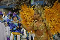 SÃO PAULO, SP, 09.03.2019 - CARNAVAL-SP - Ellen Roche da escola de samba Rosas de Ouro durante Desfile das Campeãs do Carnaval de São Paulo, no Sambódromo do Anhembi em São Paulo, na madrugada deste sabado, 09. (Foto: Levi Bianco/Brazil Photo Press/Folhapress)