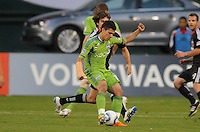 Seattle Sounders midfielder Freddy Montero (17)   DC United defeated The Seattle Sounders 2-1 at  RFK Stadium, Wednesday May 4, 2011.