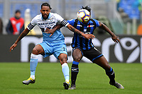 Wallace of Lazio and Duvan Zapata of Atalanta compete for the ball <br /> Roma 5-5-2019 Stadio Olimpico Football Serie A 2018/2019 SS Lazio - Atalanta <br /> Foto Andrea Staccioli / Insidefoto