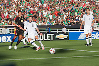 Mexico defeated USA 4-2 to win the 2011 Gold Cup Final at the Rose Bowl in Pasadena, California on June 25, 2011....