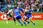 HSBC Hong Kong Rugby Sevens 2018 Match between Fiji and Samoa on 06 April 2018, in Hong Kong. Photo by Marcio Rodrigo Machado / Power Sport Images