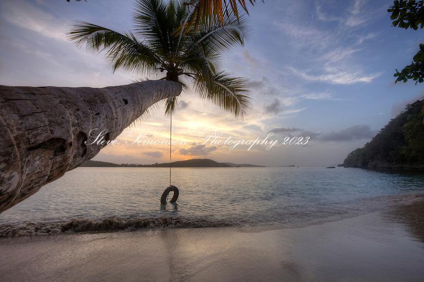 Gibney Beach.Virgin Islands National Park.St. John.U.S. Virgin Islands